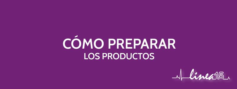 como preparar los productos